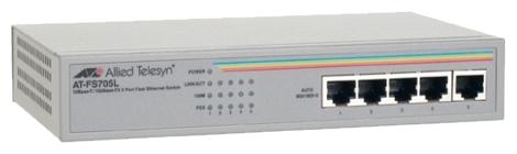 Коммутатор Allied Telesyn AT-FS705L 5-port 10/100Mbps Unmanaged Switch
