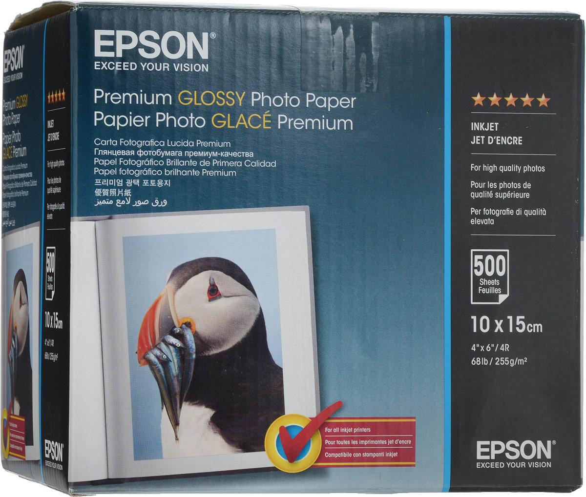 Фотобумага A6 255г/м2 глянцевая, 500 листов, односторонняя, Epson S041826/C13S041826 для струйной печати