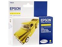 Картридж струйный Epson T0634 (C13T06344A10), желтый, оригинальный, ресурс 420 страниц, для Epson Stylus C67 / C87, CX3700 / 4100 / 4700