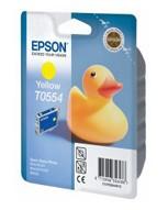 Картридж струйный Epson T0554 (C13T05544010), желтый, оригинальный, объем 8мл, для Epson Stylus RX520 / R240