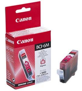 Картридж струйный Canon BCI-6M (4707A002), пурпурный, оригинальный, ресурс 270 страниц, для Canon BJ-i560 / i865 / i905 / i9100 / i950 / i965 / i990 / i9950 / S800 / S820 / S830 / S900 / S9000, BJC-8200, PIXMA-iP3000 / iP4000 / iP5000 / iP6000 / iP8500 / MP750 / MP760 / MP780