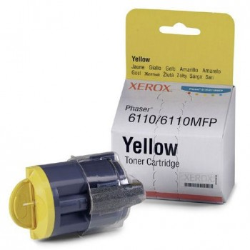 Картридж лазерный Xerox 106R01204, желтый, 1шт., 1000 страниц, оригинальный, для Xerox Phaser 6110MFP