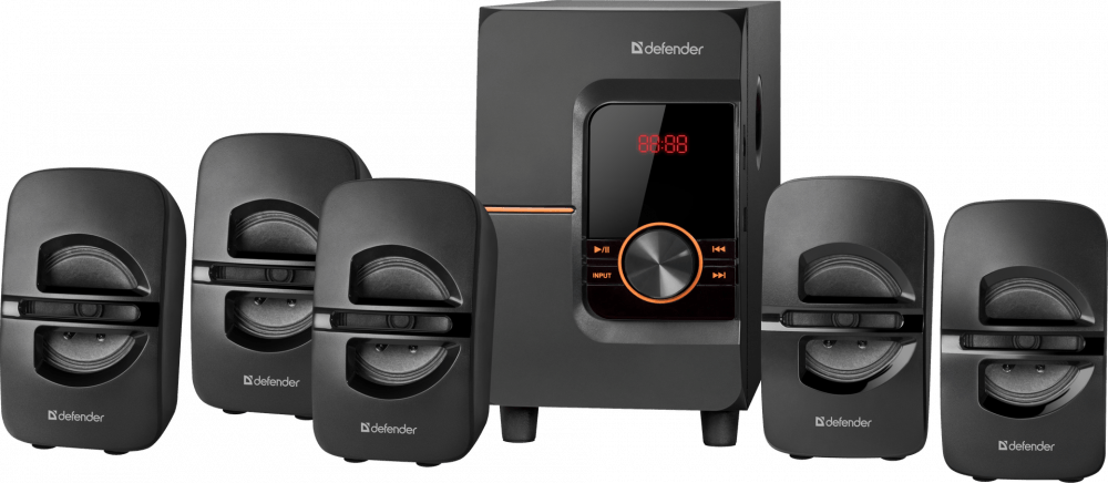 Акустика 5.1 Defender Cinema 52, 52W, FM, USB, SD, Bluetooth, черный (65152)