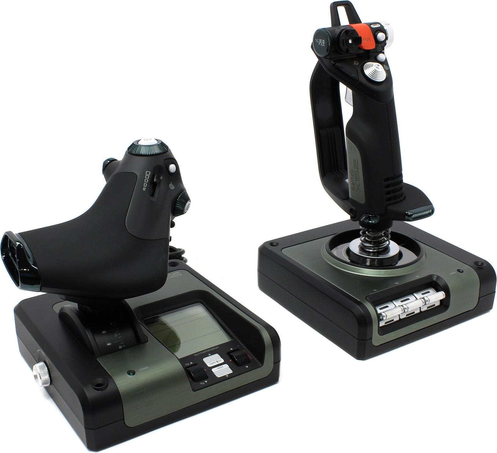 Джойстик Logitech X52 Professional H.O.T.A.S., проводной, черный/серый (945-000003)