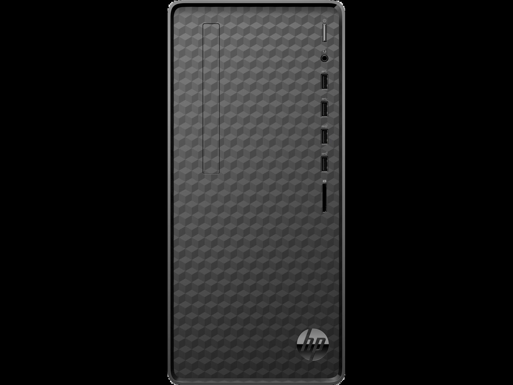 Системный блок HP M01-F1007ur, Intel Core i3 10100 3.6GHz, 8Gb RAM, 512Gb SSD, Nvidia GeForce GTX 1650 SUPER 4Gb, WiFi, BT, W10, черный (216C6EA)