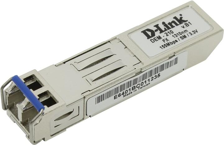 Модуль SFP D-Link DEM-210/10, 15км, LC, 17 дБ, Tx:1310 нм, Rx:1310 нм, 100 Мбит/с, SM, двойной, 10шт. (DEM-210/10)