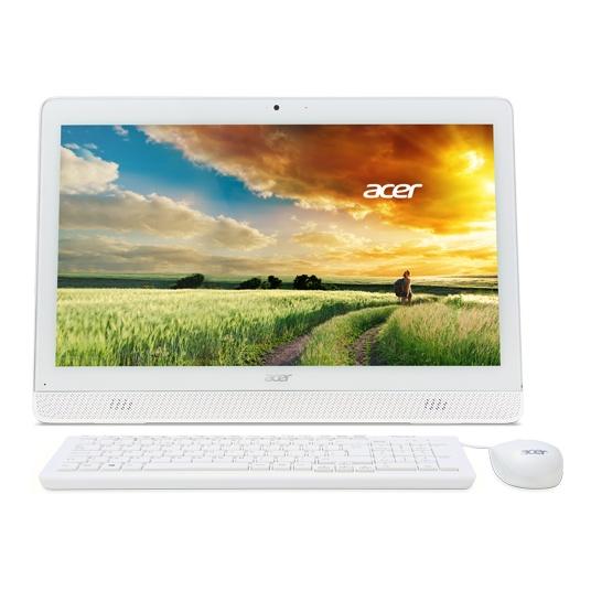 "Моноблок Acer Aspire Z1-612 19.5"" 1600x900, Intel Pentium N3700 1.6GHz, 4Gb RAM, 500Gb HDD, DVD-RW, WiFi, BT, DOS, белый + клавиатура, мышь (DQ.B2QER.004)"