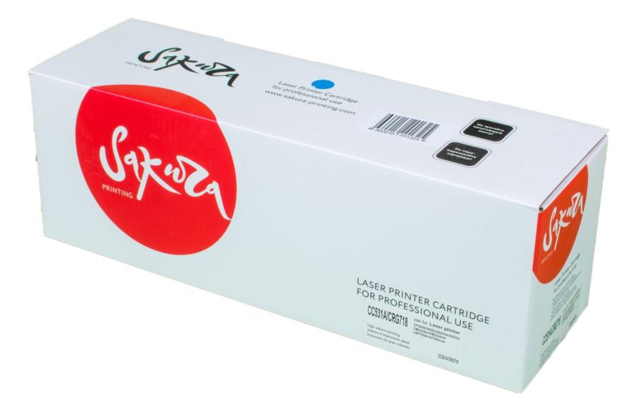 Картридж лазерный SAKURA SACC531A/CRG718C (CC531A/CRG718C), голубой, 2800 страниц, совместимый, для CLJ CP2025/CP2025n/CP2025dn/CP2025, MFP CM2320fxi/CM2320n/CM2320nf