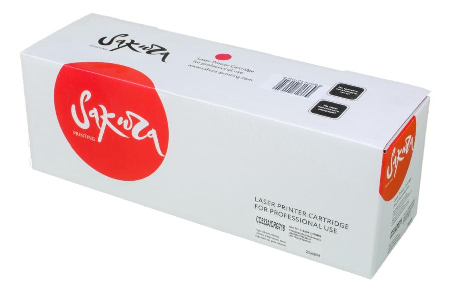 Картридж лазерный SAKURA SACC533A/CRG718M (CC533A), пурпурный, 2800 страниц, совместимый для Color LaserJet CP2025/CP2025n/CP2025dn/CP2025, MFP CM2320fxi/CM2320n/CM2320nf