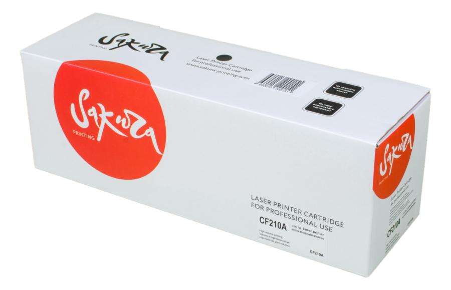 Картридж лазерный SAKURA SACF210A (CF210A), черный, 1600 страниц, совместимый, для LJP 200 Color M251/M276