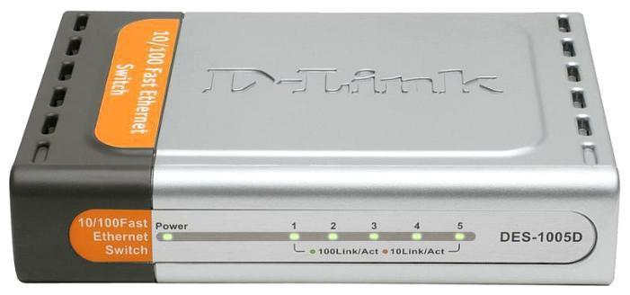 Коммутатор D-Link DES-1005D 5-port 10/100 Switch