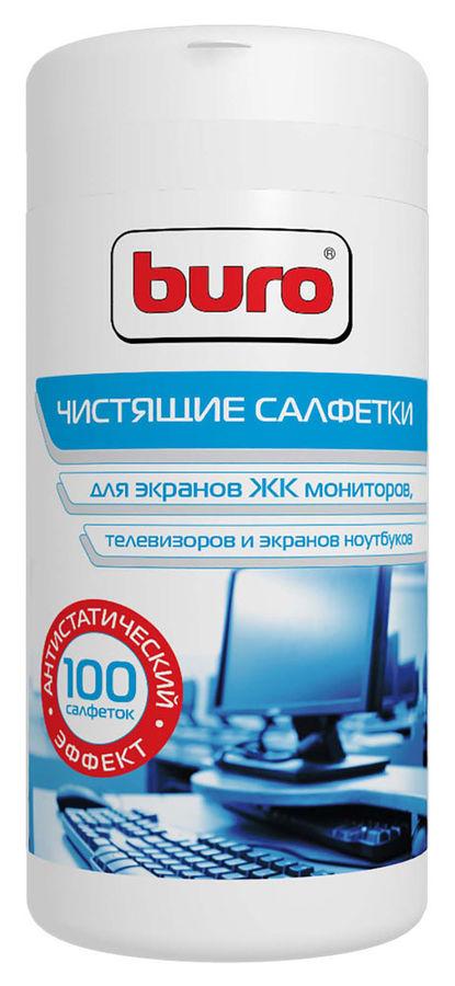 Салфетки влажные 100шт. для экранов и оптики BU-Tscreen Buro