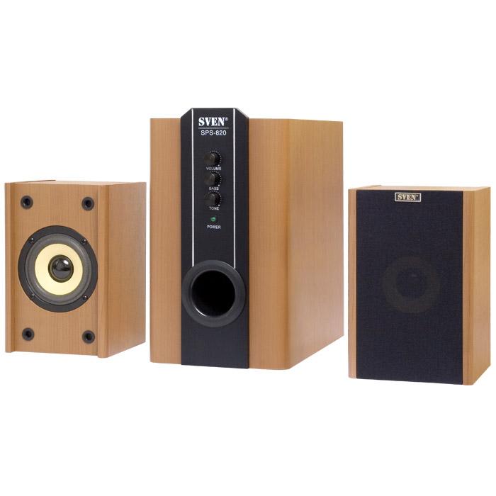 Акустика 2.1 SVEN SPS-820 18W+2x10W, Wooden