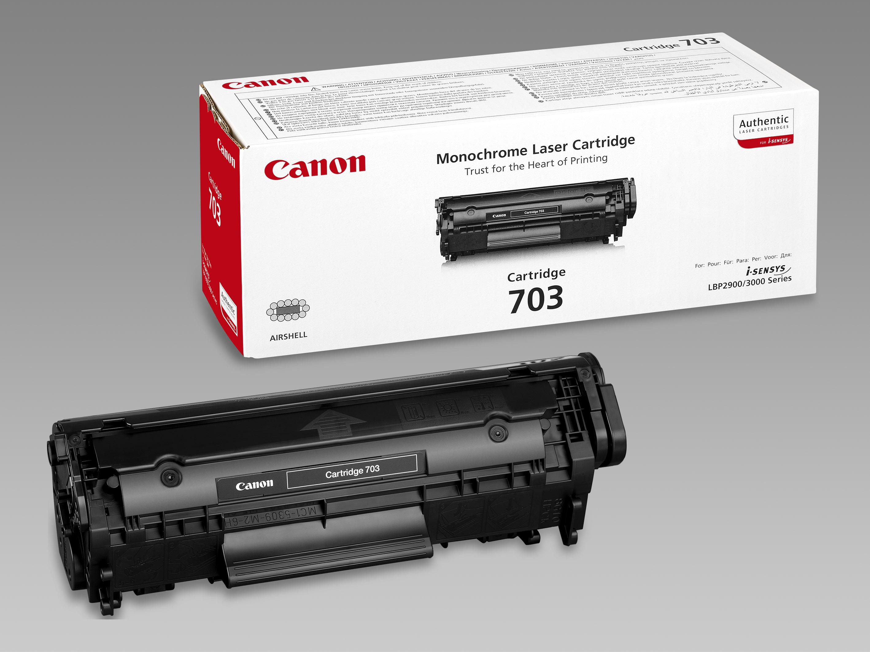 Картридж лазерный Canon 703/7616A005, черный, 2000 страниц, оригинальный, для Canon LBP-2900 / 3000