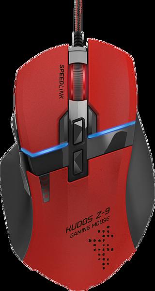 Мышь проводная Speedlink KUDOS Z-9, 8200dpi, оптическая лазерная, USB, красный (SL-6391-RD)