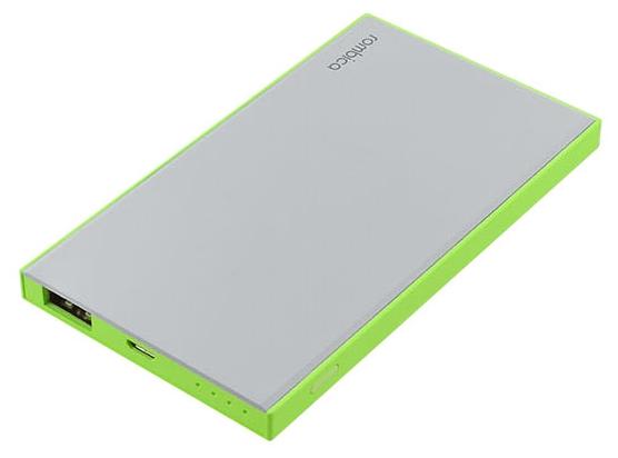 Портативный аккумулятор (Powerbank) Rombica NEO NS50L, 5000mAh, 1xUSB, 1A, зеленый/белый