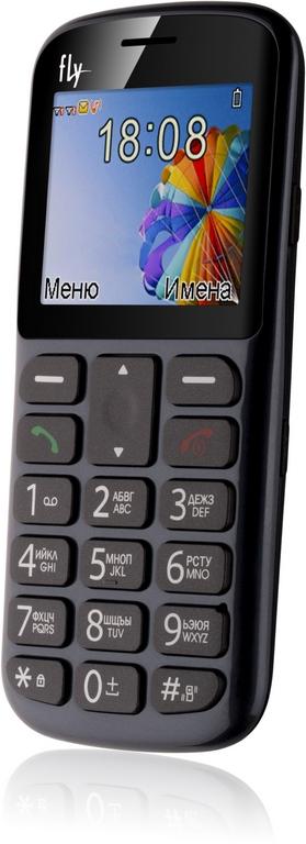 """Мобильный телефон Fly Ezzy 8 2.2"""" TN, Cam, 2-Sim, 600mAh, серый"""