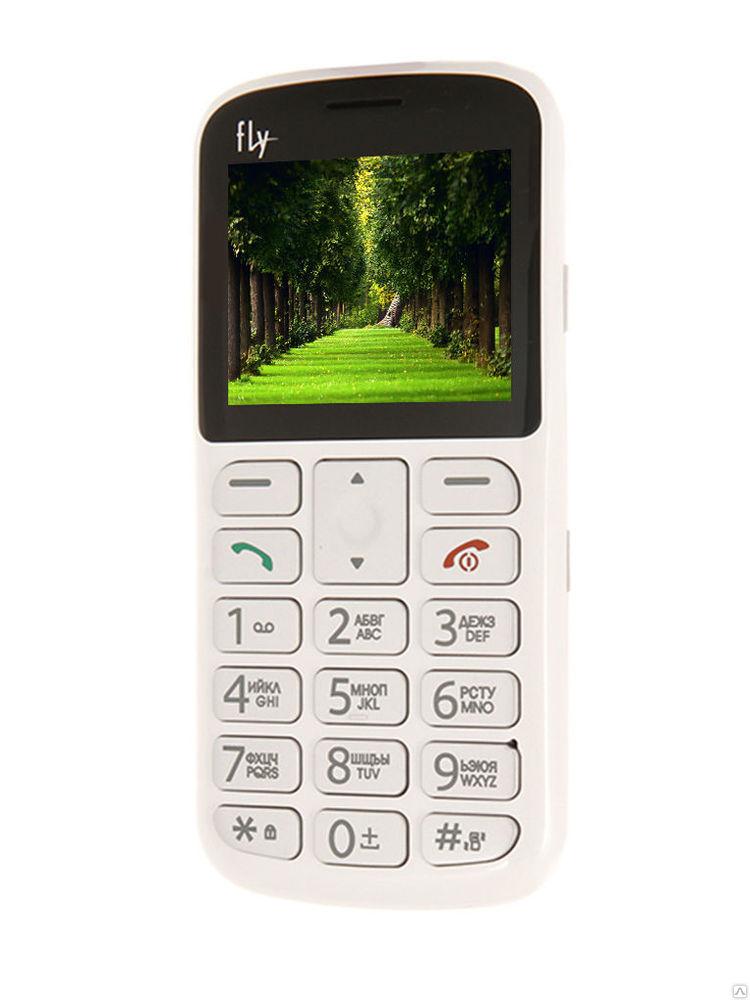 """Мобильный телефон Fly Ezzy 8 2.2"""" TN, Cam, 2-Sim, 600mAh, белый"""
