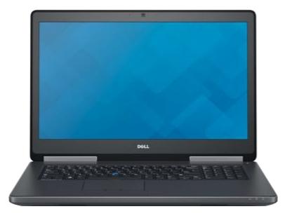 """Ноутбук Dell Precision 7710, 17.3"""" 3840x2160, Intel Xeon E3-1535M, 32Gb RAM, 1Tb HDD+512Gb SSD, Quadro M4000M-4Gb, WiFi, BT, Cam, W7Pro+W10Pro, черный (7710-9648)"""