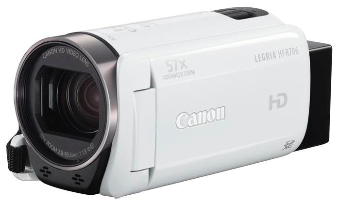 Видеокамера Canon Legria HF R706, белый (1238C004)