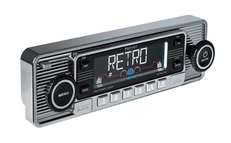 Автомагнитола Prology Retro One, 1 DIN, 4x55W