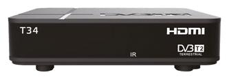 Приставка для цифрового ТВ Сигнал T34, DVB-T2 DVB-T, HDMI RCA