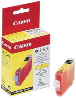 Картридж струйный Canon BCI-3Y (4482A002), желтый, оригинальный, ресурс 390 страниц, для Canon BJ-S400 / S450 / S4500 / BJC-3000 / 3010 / 6000 / 6100 / 6200 / 6500, MultiPASS-C100 / C755, SmartBase-MP700 / MP730 / MPC400 / MPC600