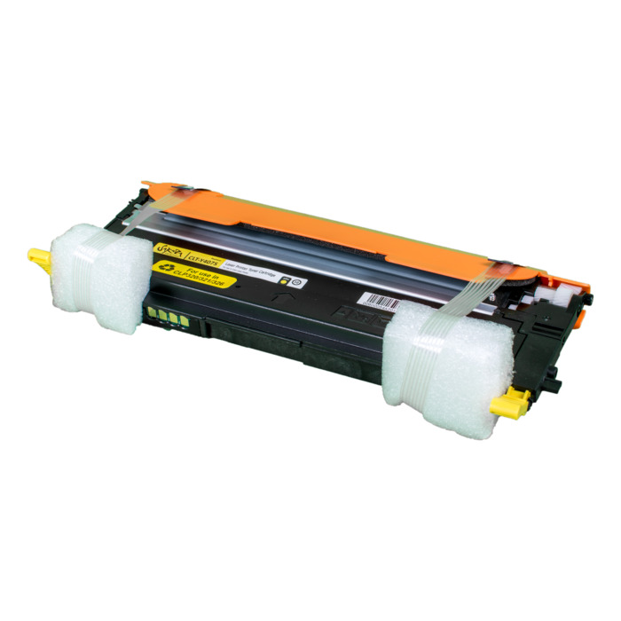 Картридж лазерный SAKURA SACLTY407S (CLTY407S), желтый, 1000 страниц, совместимый, для Samsung CLP-320/321/325/326/3185/3186