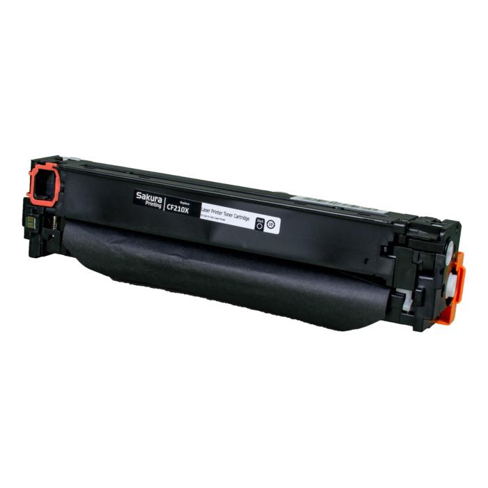 Картридж лазерный SAKURA SACF210X (CF210X), черный, 2400 страниц, совместимый, для LJP 200 Color M251/M276
