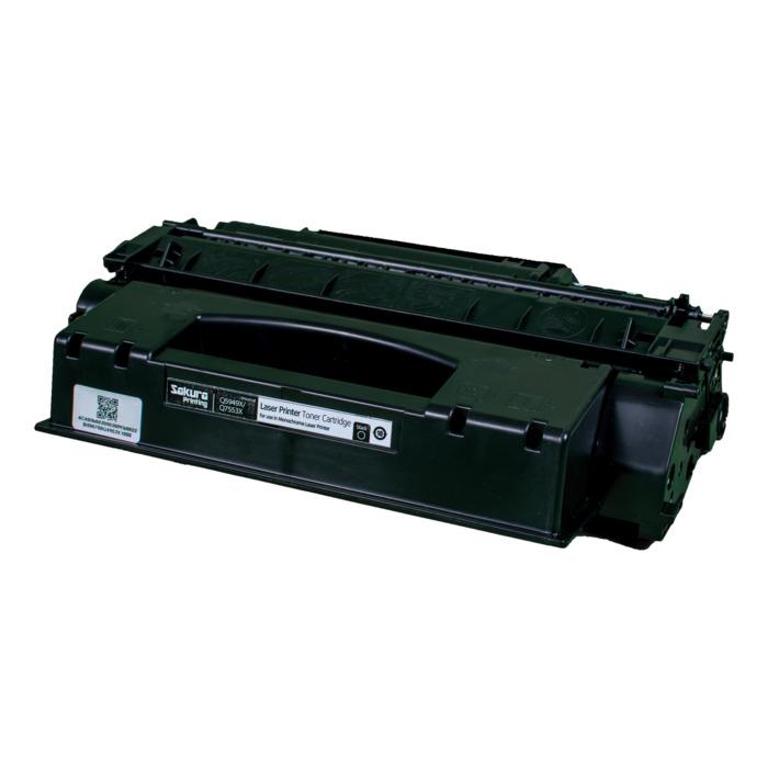 Картридж лазерный SAKURA SAQ5949X/Q7553X (Q5949X/Q7553X), черный, 6000 страниц, совместимый, для LJ 1320/1320n/1320nw/1320t/1320tn, LJ 3390/3392 P2015/M2727nfMFP/M2727mfs MFP