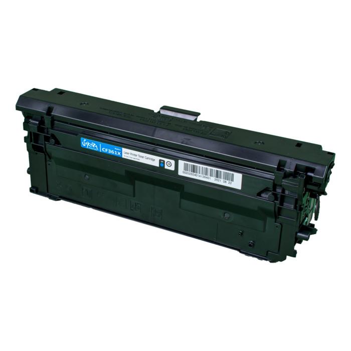 Картридж лазерный SAKURA SACF361X (CF361X), голубой, 9500 страниц, совместимый, для CLJE M552d/M553n/553x/553dn