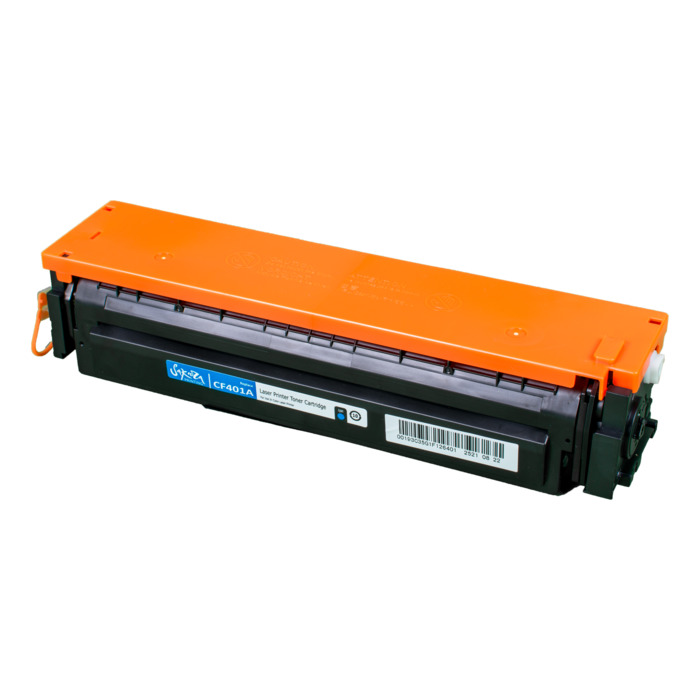 Картридж лазерный SAKURA SACF401A (CF401A), голубой, 1400 страниц, совместимый, для LJ M452DW/DN/NW, M477FDW/M477FDN/M477FNW