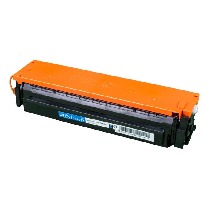 Картридж лазерный SAKURA SACF401X (CF401X), голубой, 2300 страниц, совместимый, для LJ M452DW/DN/NW, M477FDW/M477FDN/M477FNW