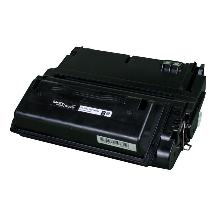 Картридж лазерный SAKURA SAQ5942X (Q5942X), черный, 12000 страниц, совместимый, для LJ 4200/4300/4240/4240N/4250/4350/4345