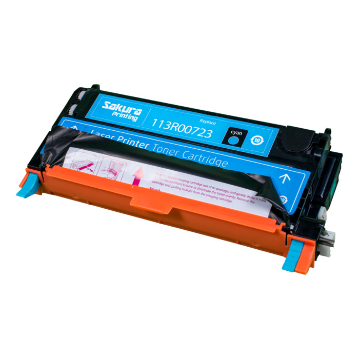 Картридж лазерный SAKURA SA113R00723 (113R00723), голубой, 6000 страниц, совместимый, для Xerox XEROX P6180