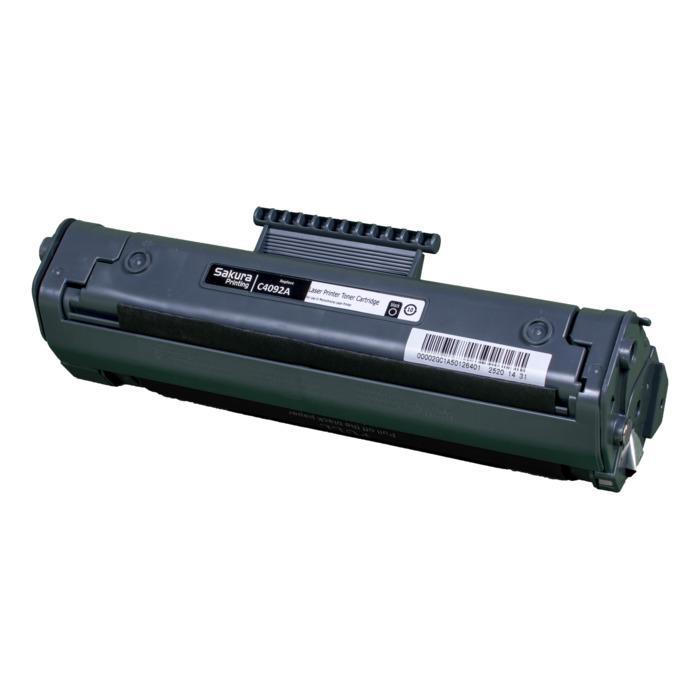 Картридж лазерный SAKURA SAC4092A (C4092A), черный, 2500 страниц, совместимый, для LJ 1100/1100a/1100se/1100xi/1100a xi/3200/3200se/3200ase/3200