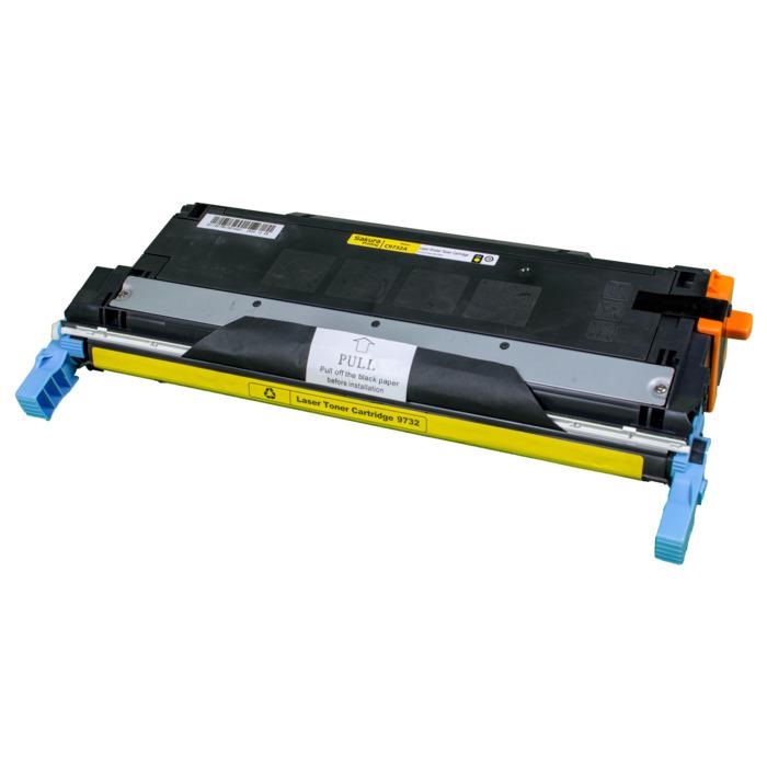 Картридж лазерный SAKURA SAC9732A (C9732A), желтый, 12000 страниц, совместимый, для LJ 5500/557