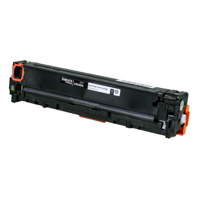 Картридж лазерный SAKURA SACB540A (CB540A), черный, 2300 страниц, совместимый, для CLJ CP1215/CP1515/CP1518, MFP CM1312