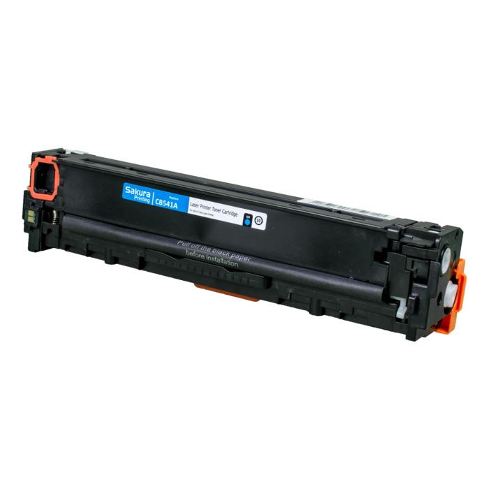 Картридж лазерный SAKURA SACB541A (125A/CB541A), голубой, 1500 страниц, совместимый для Color LJ CM1312MFP, CP1518/CP1515/CP1215