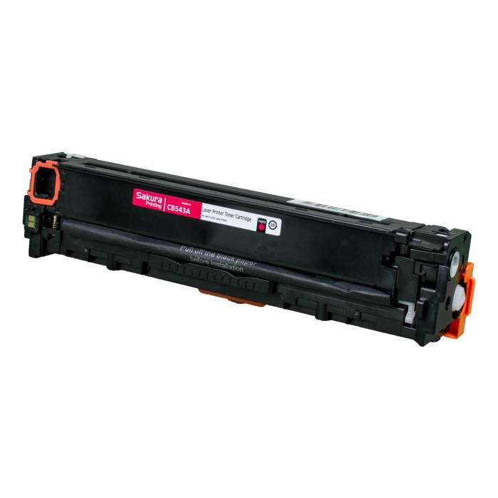 Картридж лазерный SAKURA SACB543A (CB543A), пурпурный, 1500 страниц, совместимый, для CLJ CP1215/CP1515/CP1518, MFP CM1312