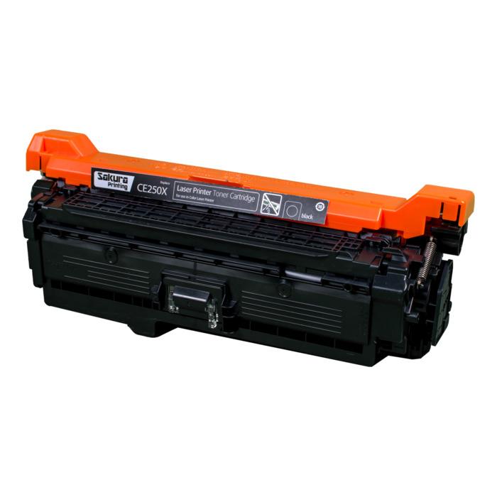 Картридж лазерный SAKURA SACE250X (CE250X), черный, 10000 страниц, совместимый, для CLJ CM3530MFP/CM3530fsMFP/CP3525/CP3525n/CP3525dn/CP3525x