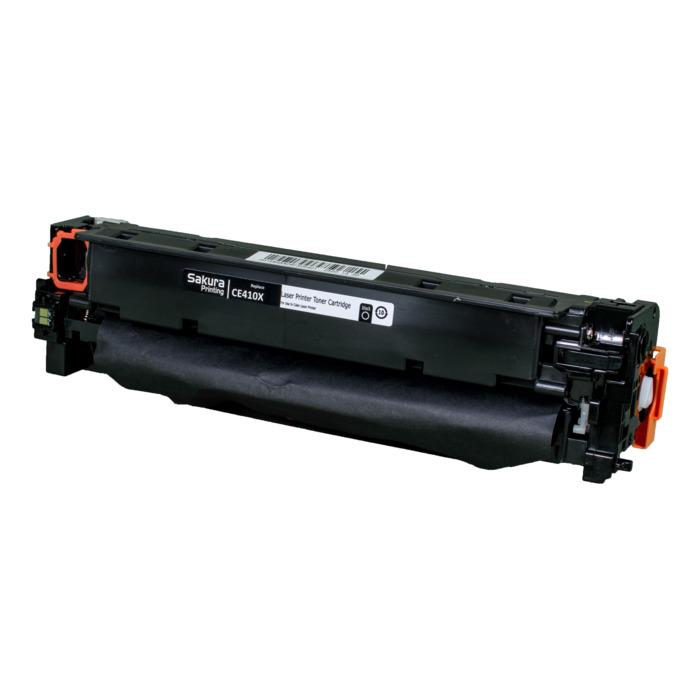 Картридж лазерный SAKURA SACE410X (CE410X), черный, 4000 страниц, совместимый, для LJP 300/400 Color M351/M375nw/M451dn/M451nw/M451dw/M475dw/M475d
