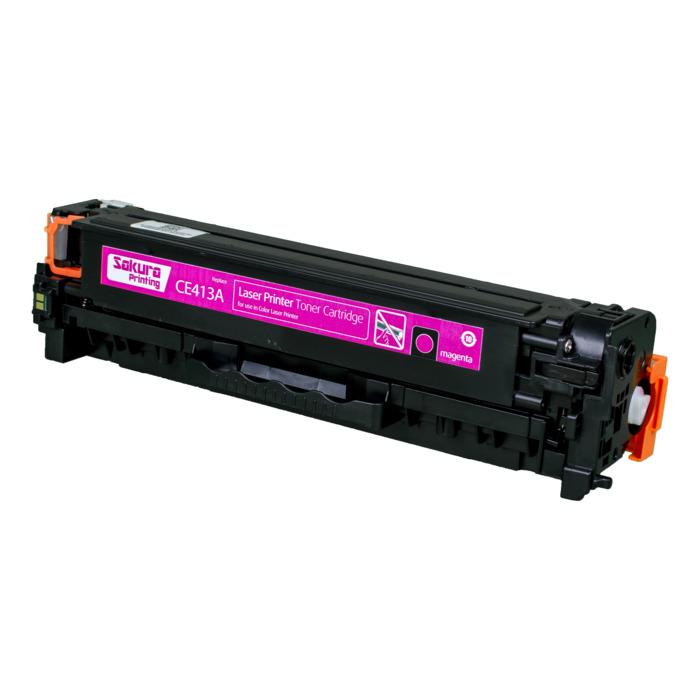 Картридж лазерный SAKURA SACE413A (CE413A), пурпурный, 2600 страниц, совместимый, для LJ 300 Color MFP M375NW, LJP 400 Color M451DN/M451DW/451NW/MFP M475DW/M475DN