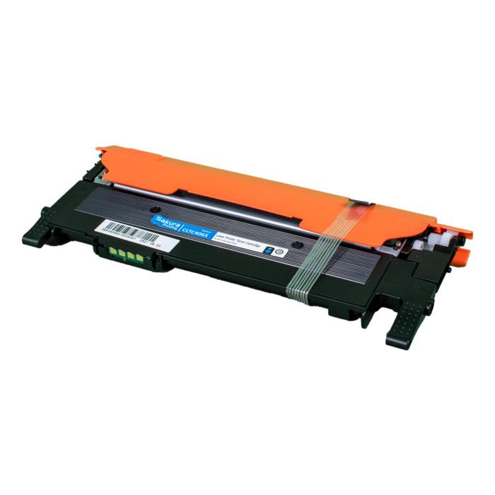 Картридж лазерный SAKURA SACLTC406S (CLTC406S), голубой, 1000 страниц, совместимый для Samsung CLP-368/CLP-366/CLP-365/CLP-360