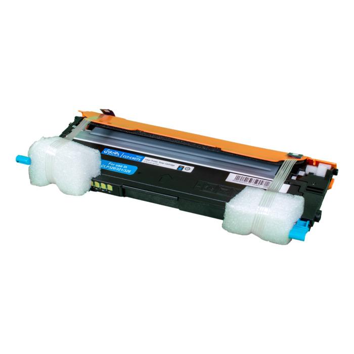 Картридж лазерный SAKURA SACLTC407S (CLTC407S), голубой, 1000 страниц, совместимый, для Samsung CLP-320/321/325/326/3185/3186
