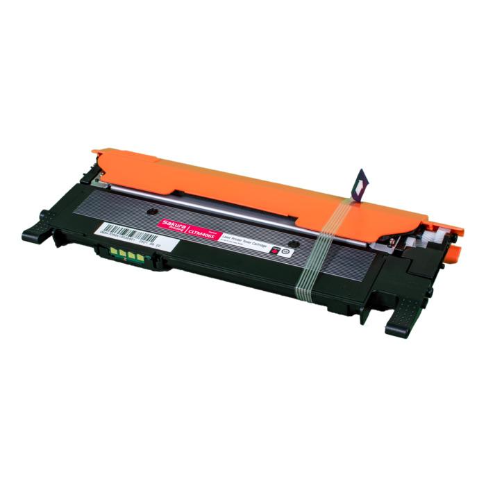 Картридж лазерный SAKURA SACLTM406S (CLTM406S), пурпурный, 1000 страниц, совместимый для Samsung CLP-368/CLP-366/CLP-365/CLP-360