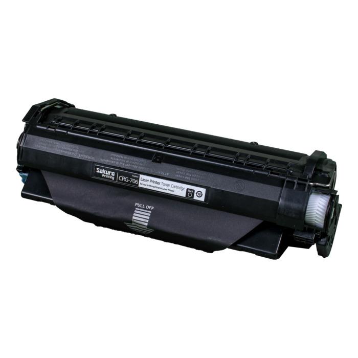 Картридж лазерный SAKURA SACRG706 (CRG706), черный, 5000 страниц, совместимый, для Canon MF6530/6540/6550/6580