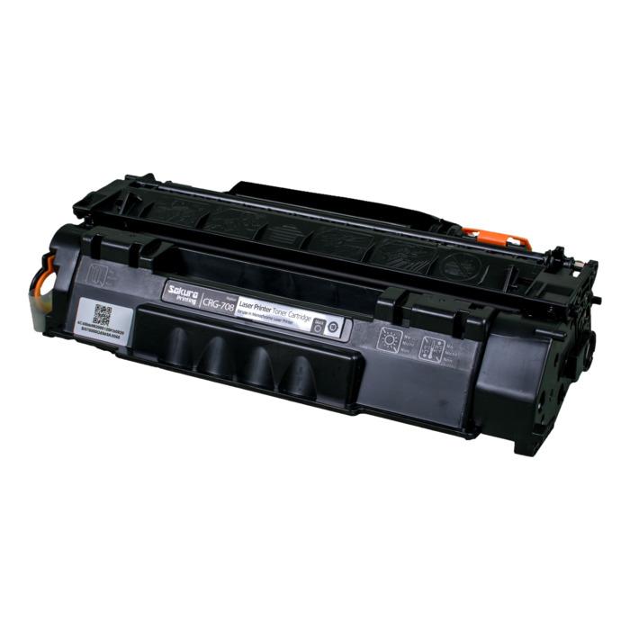 Картридж лазерный SAKURA SACRG708 (CRG708), черный, 2500 страниц, совместимый, для Canon LBP3300/3330/3360