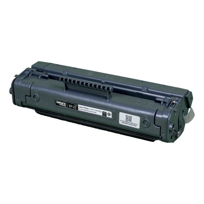 Картридж лазерный SAKURA SAEP22 (EP22), черный, 2500 страниц, совместимый, для LBP-800/810/1120, LJ 1100/1100A
