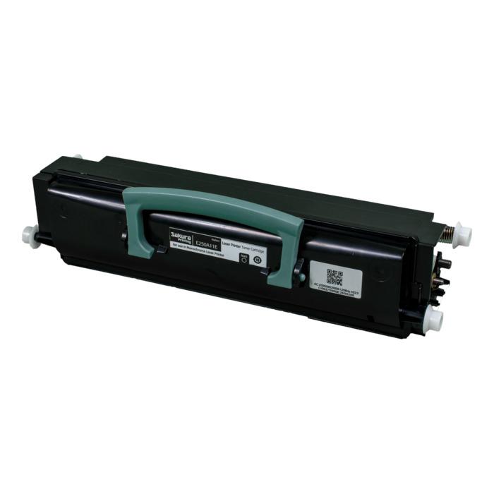 Картридж лазерный SAKURA SAE250A11E (E250A11E), черный, 3500 страниц, совместимый, для Lexmark E250/E350/E352